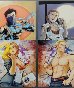 4 pin-up art prints - 1 each of Kenji, Carver, Anne, and Vlad