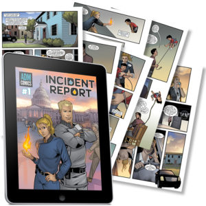 Incident Report Issue 1 digital preview pages with tablet